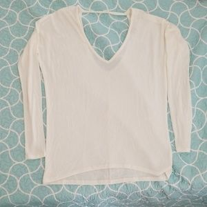 Off white long sleeve shirt